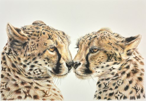 Live for LoVe Study by Hayley Goodhead - Original Drawing on Mounted Paper